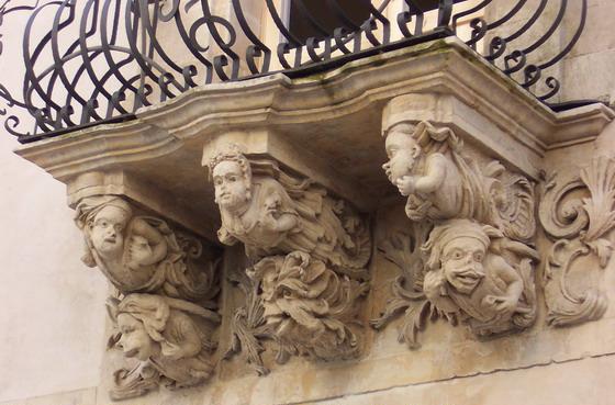 Ragusa - Particolare di Palazzo Bertini